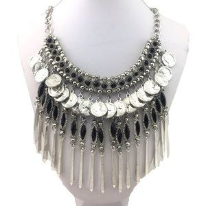 Jewelry - Silver Coin Gypsy Dangle Necklace